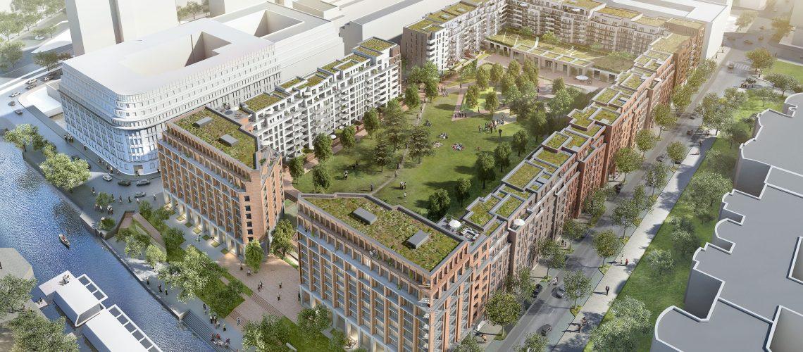 750 Wohnungen entstehen im SonninPark – davon 250 öffentlich geförderte. Bildquelle: Aug. Prien, Urheber: moka-studio