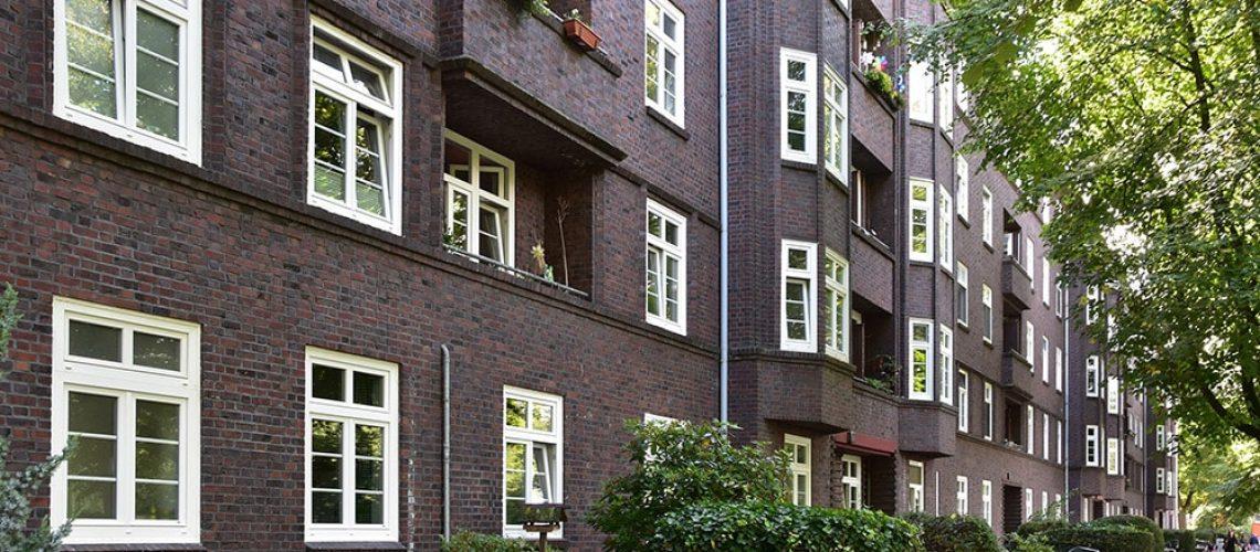 In Quartieren des 1920er und 1930er Jahren wurden zahlreiche Grundstücke auf Erbpachtbasis vergeben.