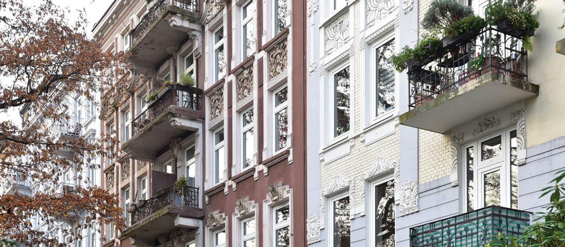 Große Gründerzeitwohnungen in guter Wohnlage konnten leicht überdurchschnittlich zulegen.