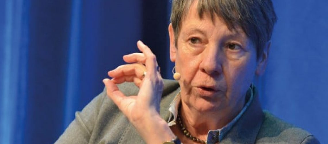 Bundesbauminsterin Barbara Hendricks bei der Immobilienkonferenz Quo vadis in Berlin. Bild: Feldhaus