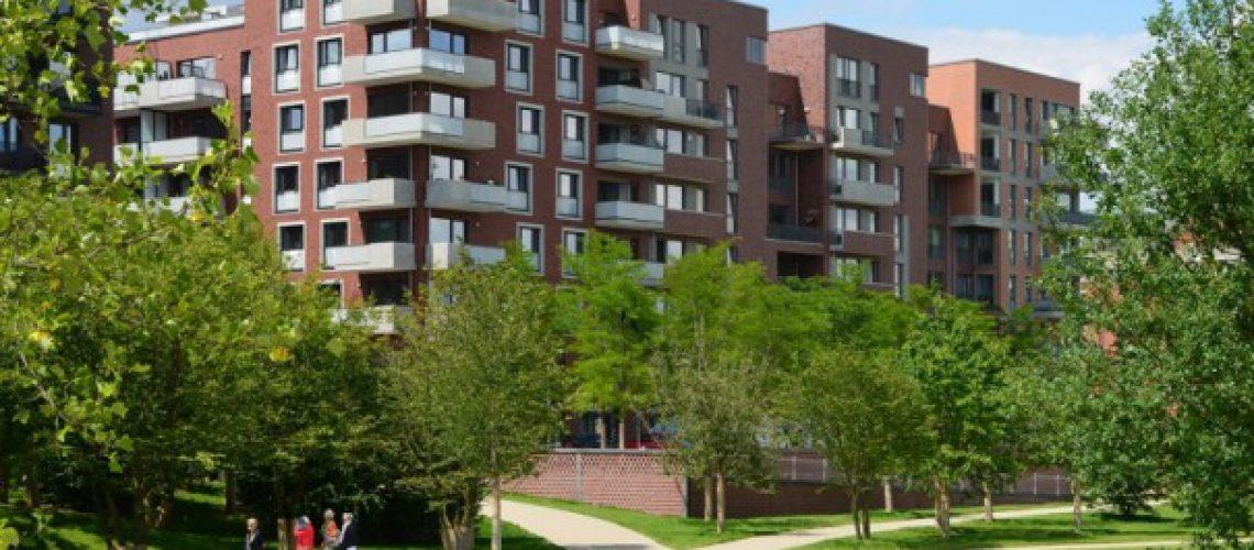 Die Wohnungen in der Hafencity – hier am Lohsepark – liegen preislich oft deutlich über dem Median von 5.700 Euro/Quadratmeter. Bild: Feldhaus