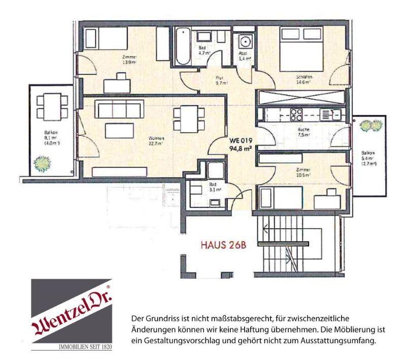 reserviert: Schönes Zuhause für die komplette Familie in ruhiger Lage - Grundriss