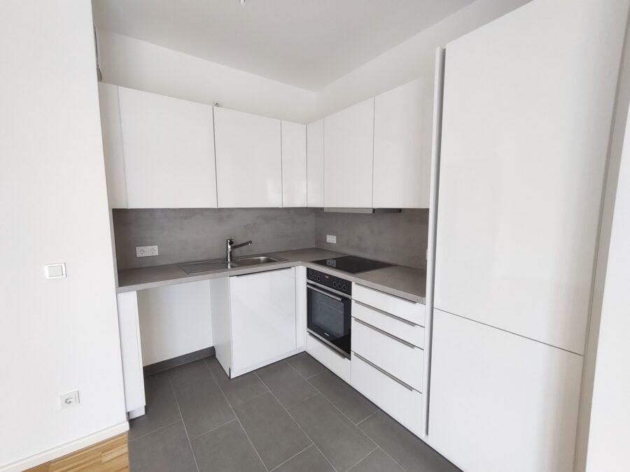 Kompakte 2 Zimmer Wohnung mit Garten! - Einbauküche