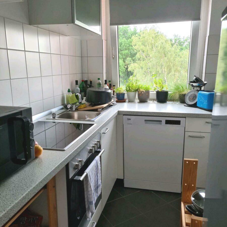 Einziehen und wohfühlen - Helle Singlewohnung mit tollem Ausblick - Küche