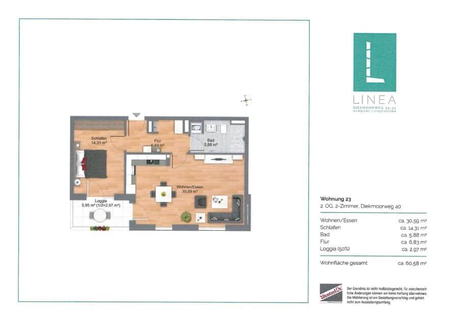 Modernes und stilvolles Wohnen - Grundriss