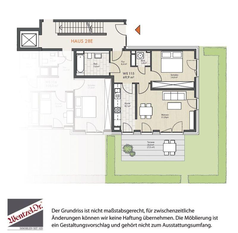 Willkommen im Veilchenweg - Schöne EG Wohnung mit Terrasse - Grundriss