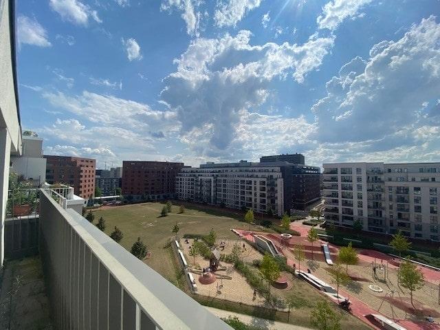 Skyline von Hamburg genießen! Süd/ West Balkon! - Ausblick