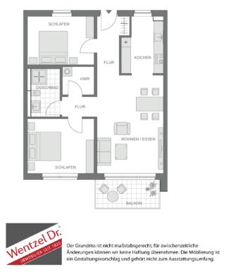 Moderner Grundriss sucht neue Mieter!, Ilmenaugarten 81<br>21337 Lüneburg<br>Etagenwohnung