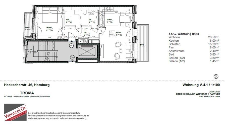 Kompakte Neubauwohnung die überzeugt! ERSTBEZUG - Grundriss