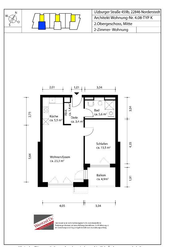 Schöne Neubauwohnung mit allem Komfort - Grundriss