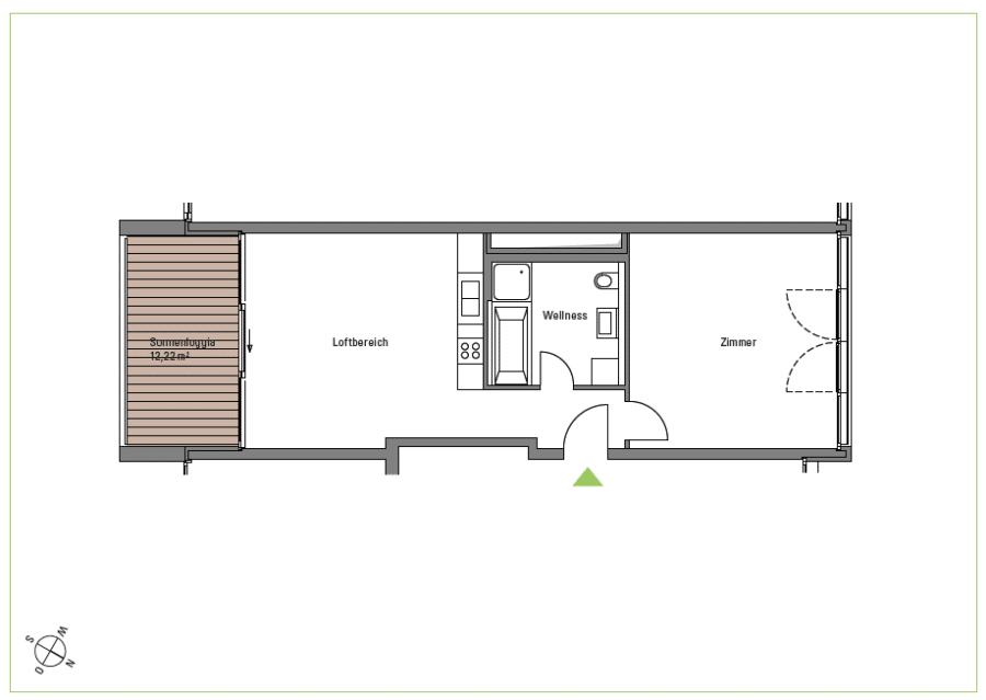 Gemütliche 2 Zimmerwohnung am Zoopark - Grundriss