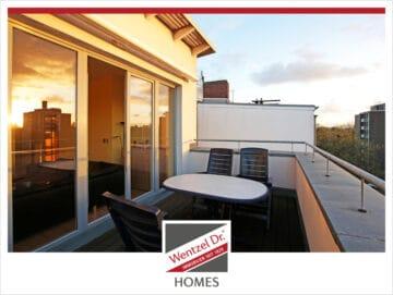 Traumhafte Wohnung in der Endetage mit Blick über Hamburg, 22041 Hamburg, Penthousewohnung