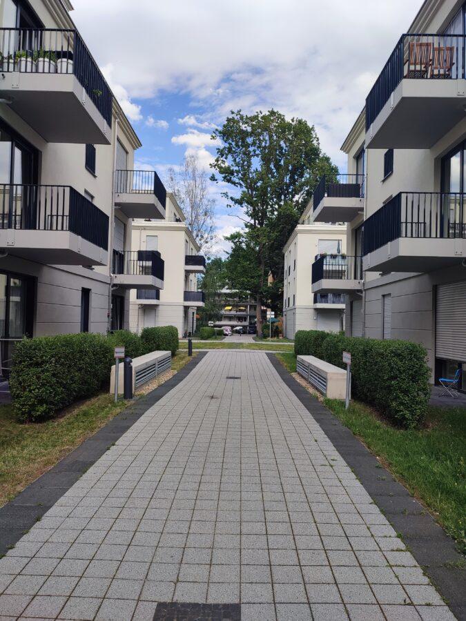 Aufgepasst: Neubauwohnung mit 2 Balkone - Außensicht