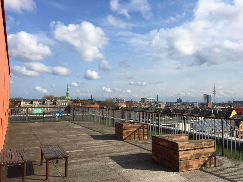 Ein WohnTRAUM an der Elbe wird wahr! - gemeinschaftliche Dachterrasse