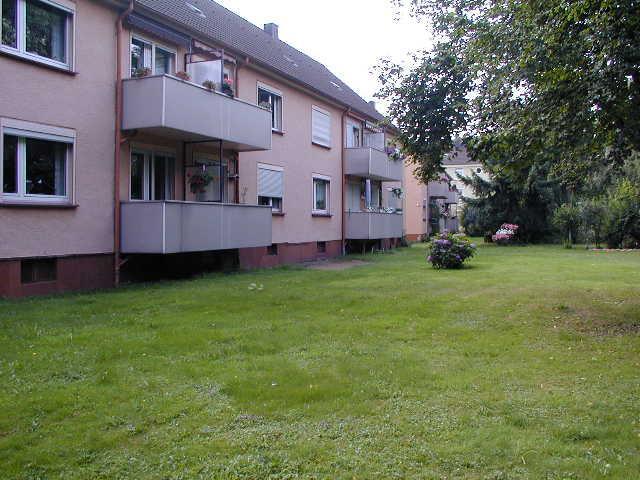 Helle 3 Zi.-EG.-Wohnung mit Balkon - Außenansicht von hinten
