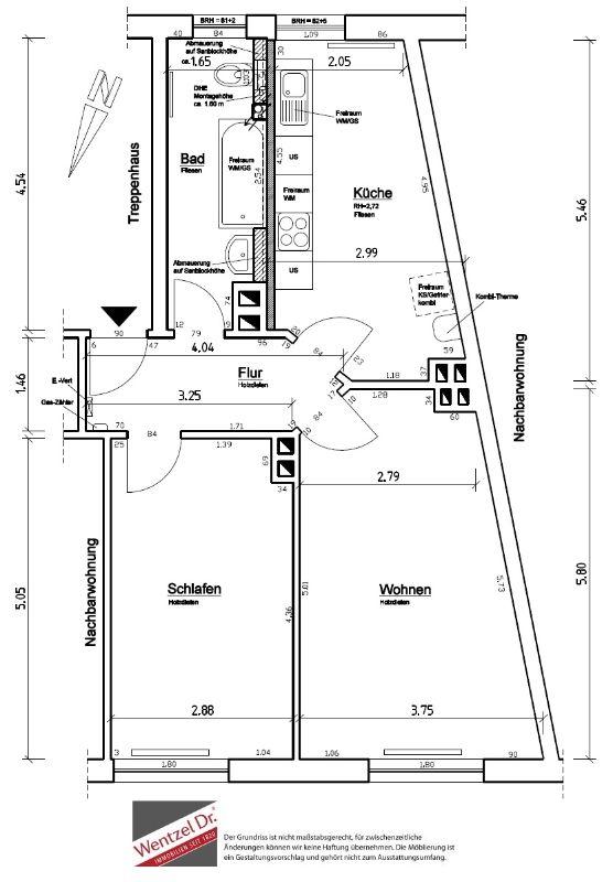 Charmante 2-Zimmer-Wohnung in Barmbek-Nord - Grundriss